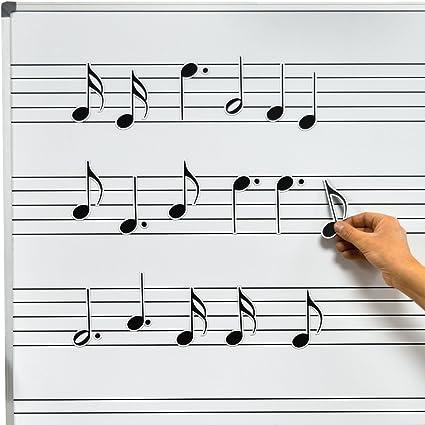 Chamberlain Música wmn40 Pizarra Blanca Magnética de música ...