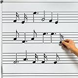 Chamberlain Music WB05, pizarra blanca A4 para música con ...