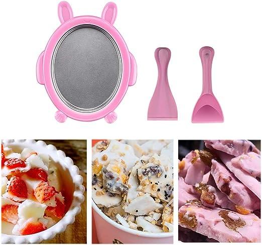 jtxqy Instant Ice Cream Maker Yogurt Sorbet Gelato Ice Roll DIY Maker Pan for Kids