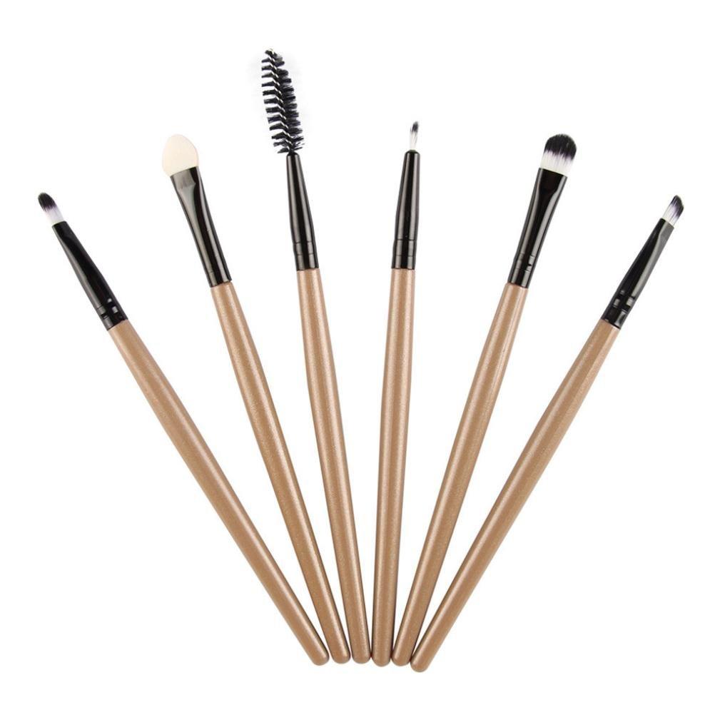 Amazon.com  6PCS Mermaid Makeup Brush Foundation Oval Brushes One Set for  Women (Black)  Beauty c3c182206