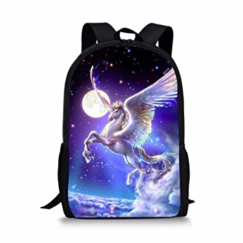 c1cfe507b Middle School Student Backpack For Girls Fashion School Bag Bookbag Unicorn  Galaxy