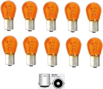 10 X clignotants Ampoule Ampoule clignotant orange 12 V 21 W ba15s Ampoule Ampoules