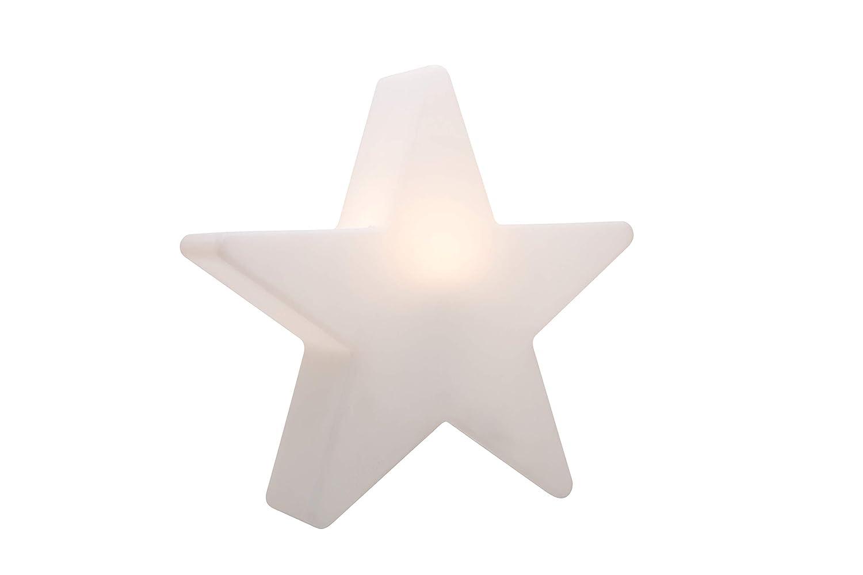 8 seasons design wei/ß /Ø 80 cm, RGB Farbwechsel, 15 Farben, Fernbedienung, dimmf/ähig, f/ür drinnen /& drau/ßen LED leuchtender Deko Stern Shining Star
