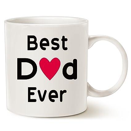 Amazon.com: MAUAG Christmas Gifts Best Dad Coffee Mug - Best Dad ...