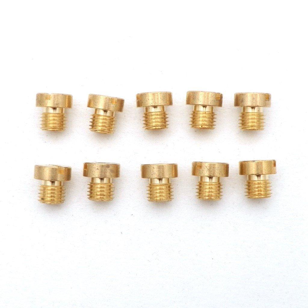 YunShuo 10 x 6mm M6 Thread Dellorto Main Jet 98-130 98 102 105 108 110 112 115 120 125 130