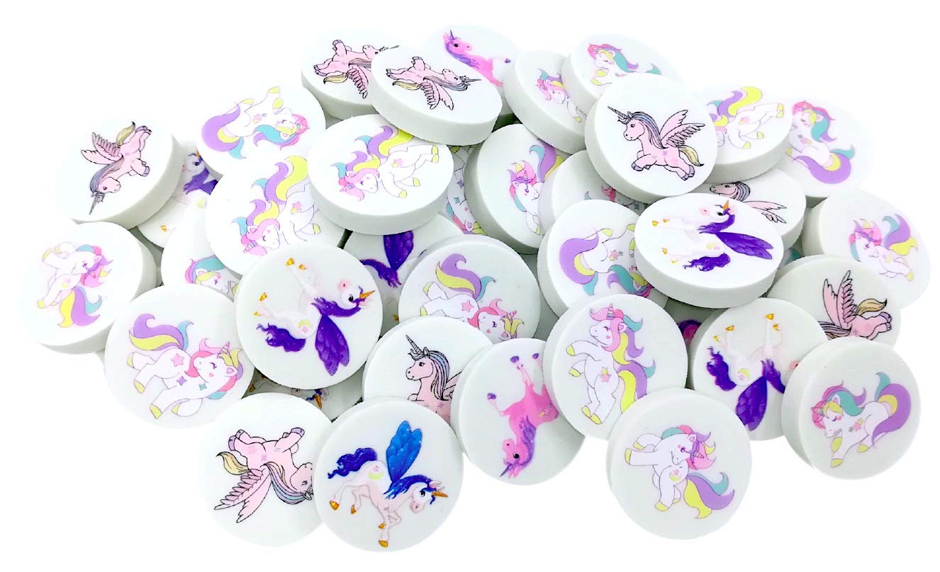 OHill Pack of 80 Unicorn Erasers Pencil Erasers Novelty Erasers for Unicorn Party Favors School Classroom Prizes Rewards