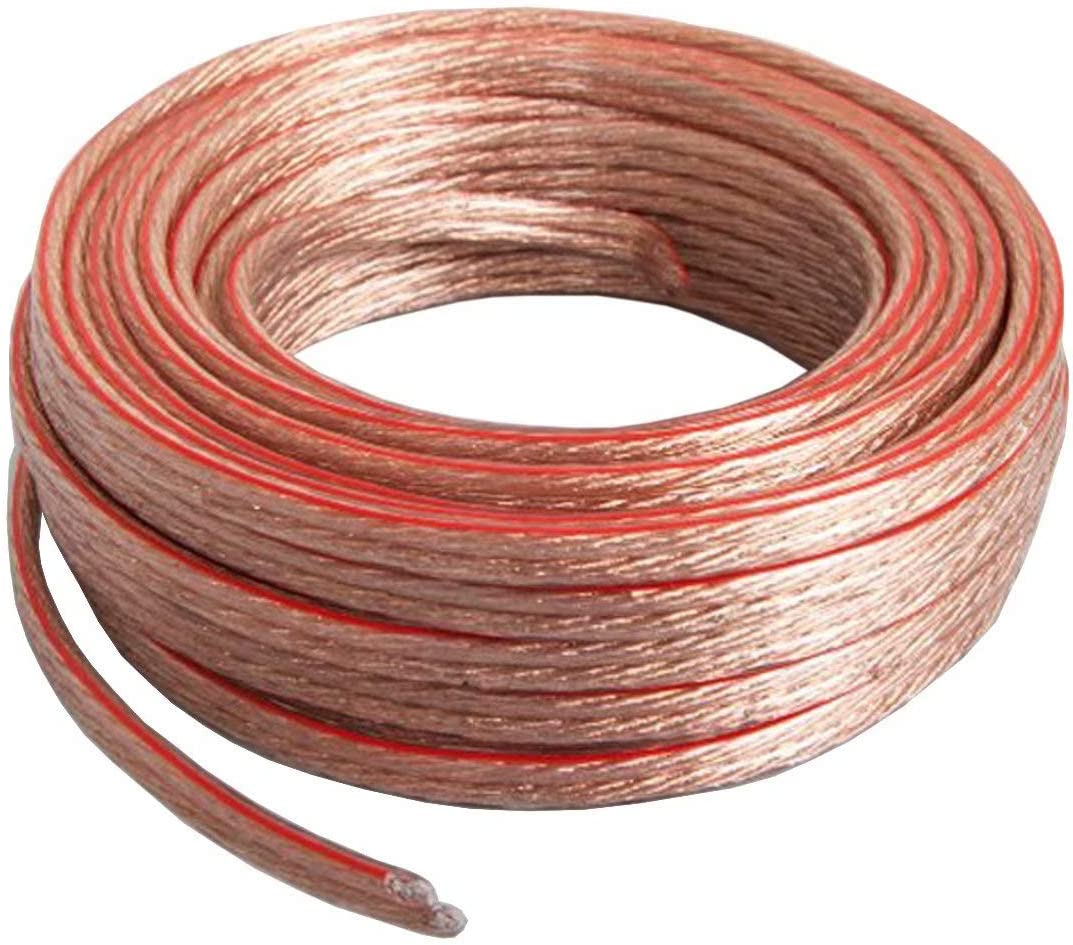 Cableague 12AWG Speaker Wire,12 AWG Gauge Speaker Wire Cable 100 Feet Great Use for Home Theater Speakers and Car Speakers