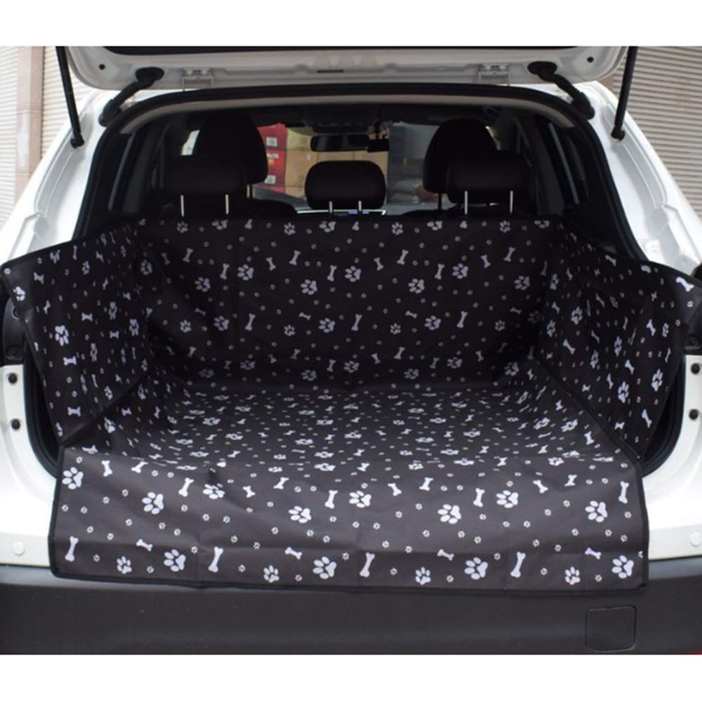 Black Dog Car Seat Cover,Waterproof Car Seat Covers for Dogs, Scratch-Proof Seat Cover Hammock, Pet Car Seat Predector with Side Flaps,Black