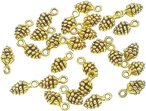 Diy 50pcs  Charms pine cone 14mm Antique alloy pendant Vintage 3 colors
