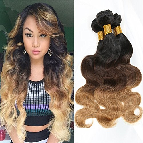 Moresoo 100 remy human hair weft three bundles ombre brazilian home pmusecretfo Image collections