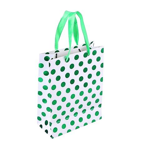amosfun 10pcs regalo bolsas de papel con diseño de lunares ...