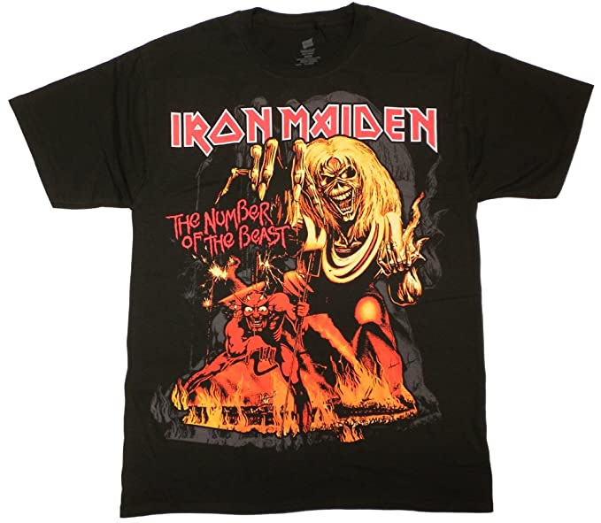 2d98d9e650 Iron Maiden Number of the Beast T-Shirt (XL) at Amazon Men's ...