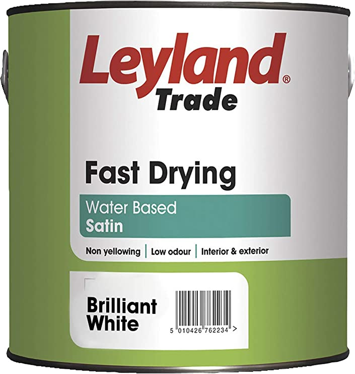 Leyland Trade 306715 Fast Drying Satin, Brilliant White, 2.5 Liters