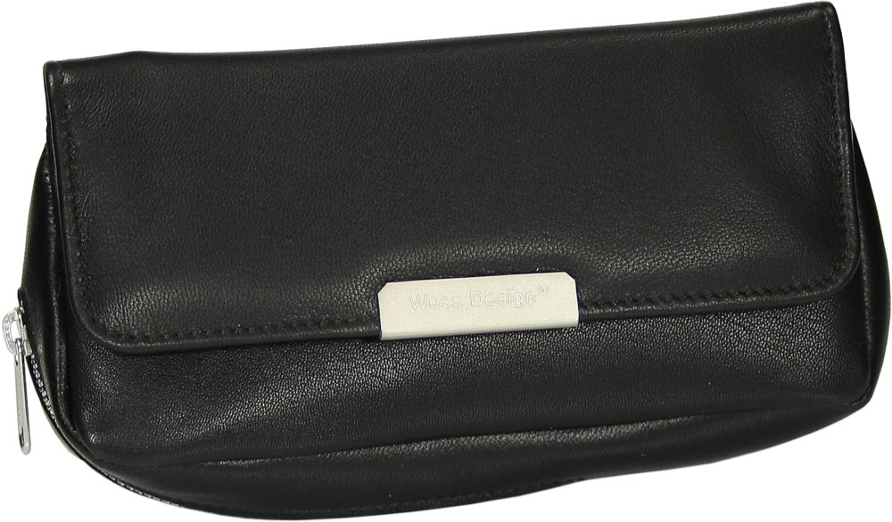 Martin Wess Germany ''Onyx'' Ultra Fine Nappa Leather 1 Pipe Combo Pouch