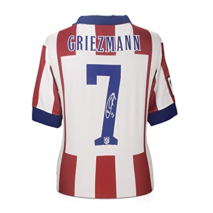 Image Unavailable. Image not available for. Color  Antoine Griezmann Signed Atletico  Madrid Soccer Jersey ed006b356