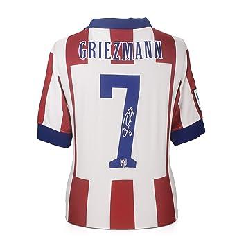 Camiseta de fútbol Atlético de Madrid firmada por Antoine Griezmann: Amazon.es: Deportes y aire libre
