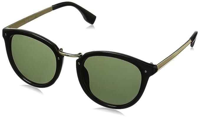 c1fac446c71 Amazon.com: A.J. Morgan Tidbits Round Sunglasses, Black, 49 mm: Clothing