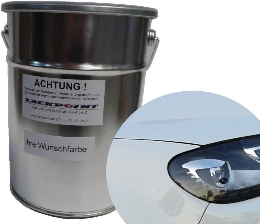 Lackpoint 0 5 Liter Spritzfertigen Basislack Für Vw Lb9a Candyweiß Uni Autolack Auto