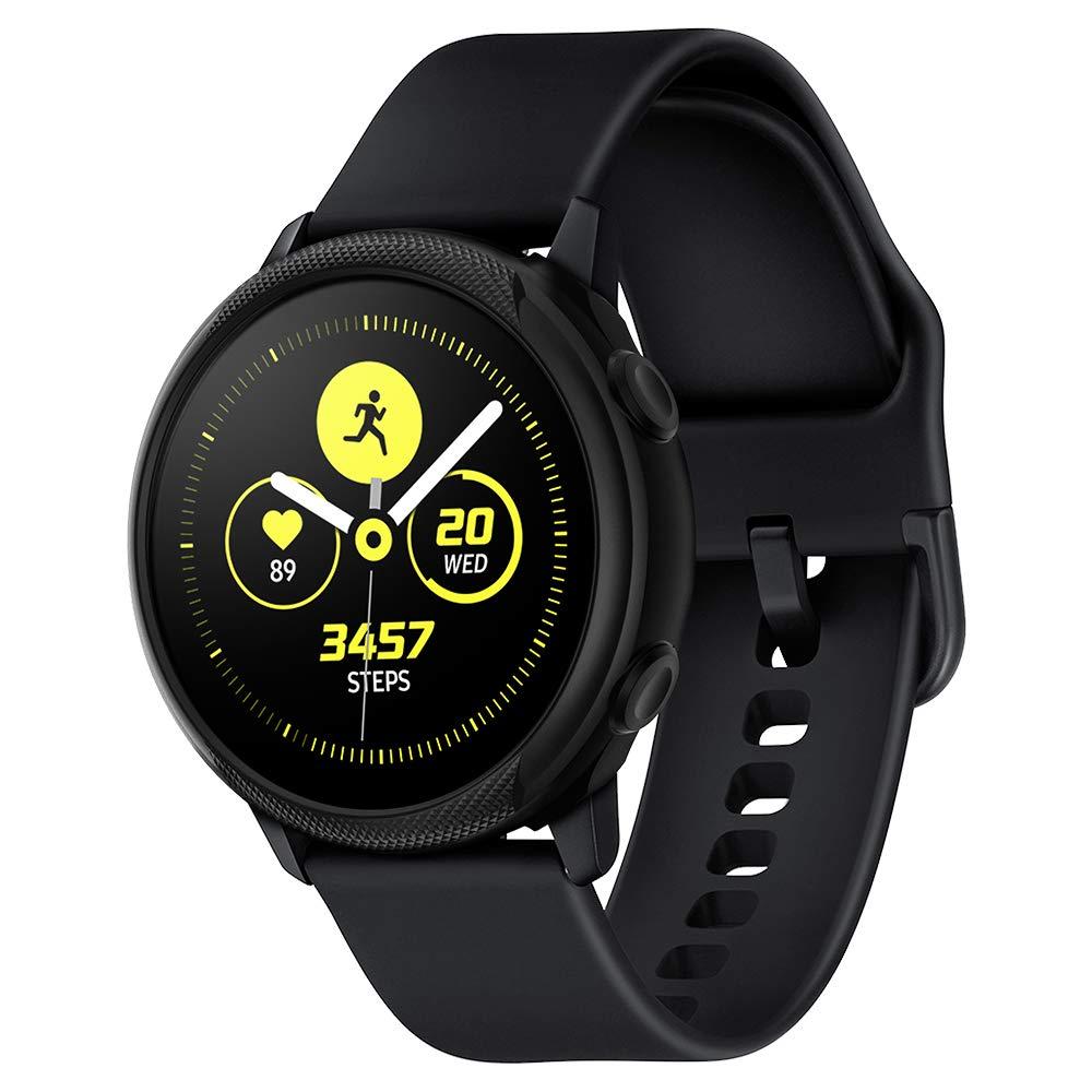 Spigen Galaxy Watch Active Funda, Liquid Air Armor diseñado para Samsung Galaxy Watch Active 40mm (2019) Case - Negro