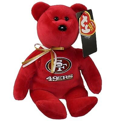 "Ty San Francisco 49ers NFL Beanie Baby Teddy Bear Plush 8.5"": Toys & Games"