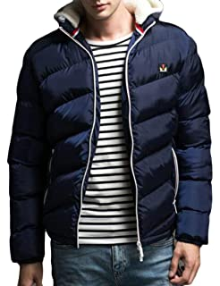 MK988 Mens Warm Solid Hooded Thicken Winter Down Quilted Jacket Parka Coat Overcoat
