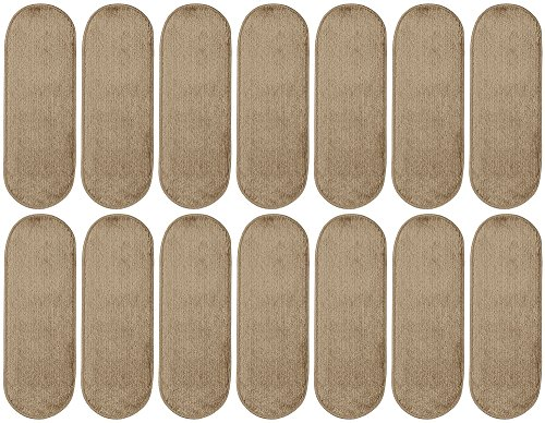 Ottomanson Softy Collection Stair Tread, 9'' X 26'' Oval, Beige, 14 Pack by Ottomanson (Image #4)