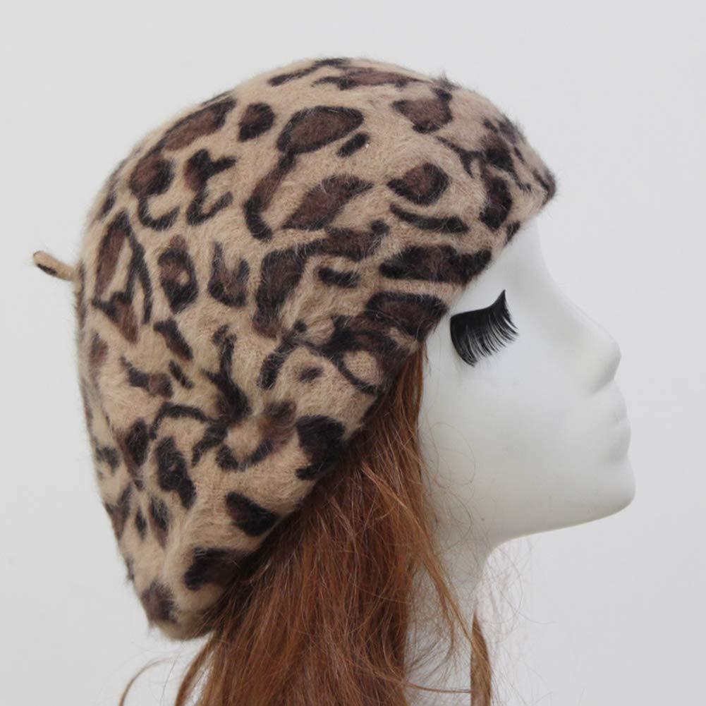 BrawljRORty Womens Beanie Fashion Women Autumn Winter Leopard Spot Round Warm Beanie Cap Slouch Beret Hat