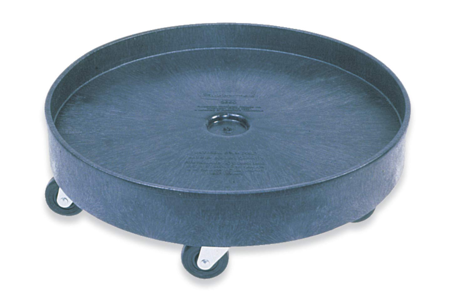 Rubbermaid Commercial Universal Drum Dolly for 55G Round Container FG265000BLA Black,