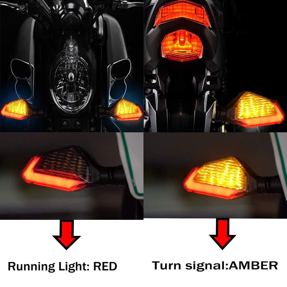 Cynemo Universal Motorcycle Led Turn Signal Lights Blinkers Front Rear Indicators for Motorbike Yamaha Scooter Harley Cruiser Honda Kawasaki BMW Suzuki 1Pair,Pack of 2