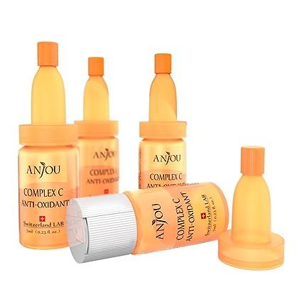 Anjou - Suero facial antioxidante a base de vitamina C, con ácido hialuró