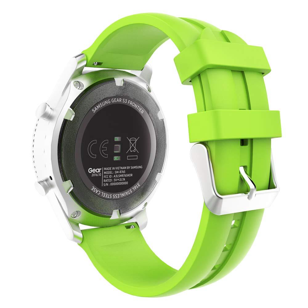 MoKo Reloj Correa Compatible con Galaxy Watch 46mm/Gear S3 Classic/S3 Frontier/Huawei Watch GT 46mm,Pulsera de Silicona, Correa de Reloj Deportivo, ...