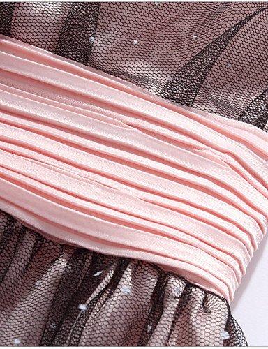 PU&PU Robe Aux femmes Grandes Tailles Grandes Tailles / Soirée Sans Bretelles Au dessus du genou Autres / Satin / Maille , pink-2xl , pink-2xl