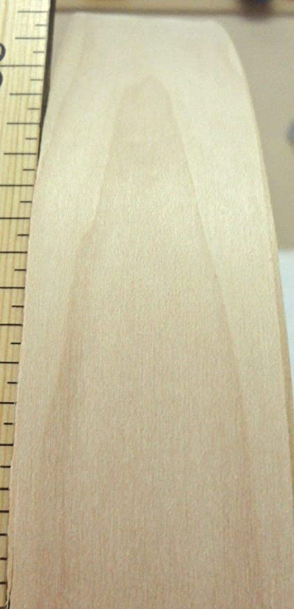 """Maple wood veneer edgebanding 1-5//8/"""" x 120/"""" fleece back no adhesive 1.625/"""""""