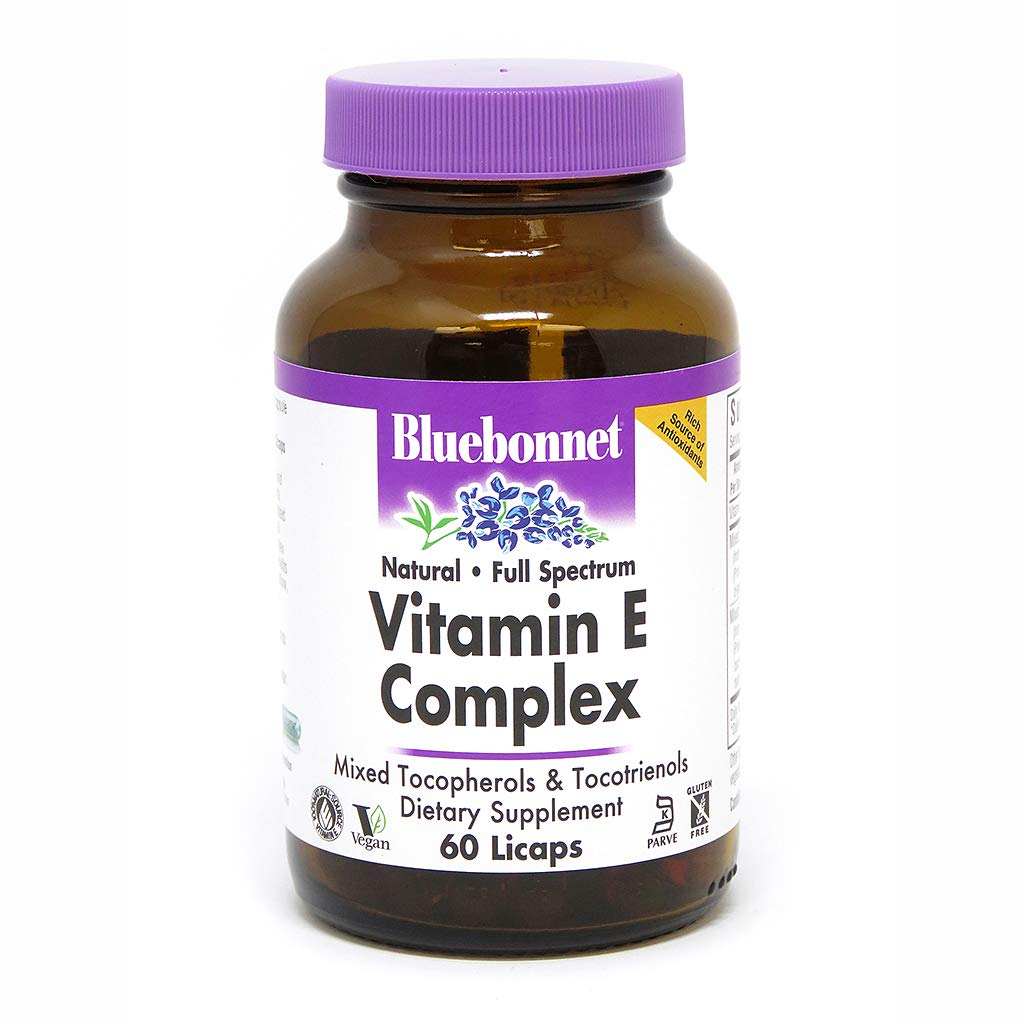 Bluebonnet Natural Full Spectrum Vitamin E Complex - 60 Licaps