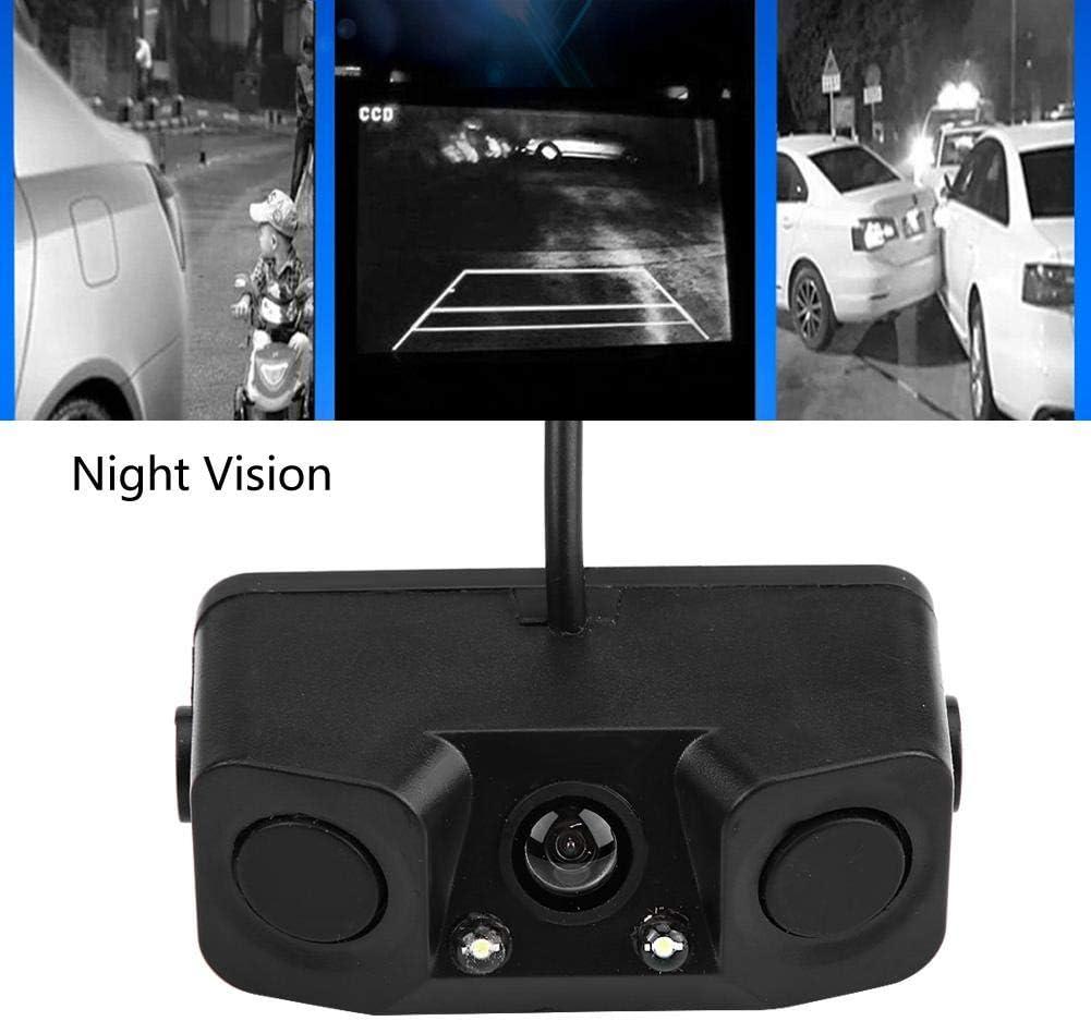 3 in1 Car Parking Reversing Sensor Radar Rear View Backup Night Vision Camera