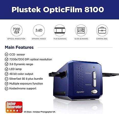GXWLWXUP OpticFilm 35 mm de película Negativa/escáner de ...