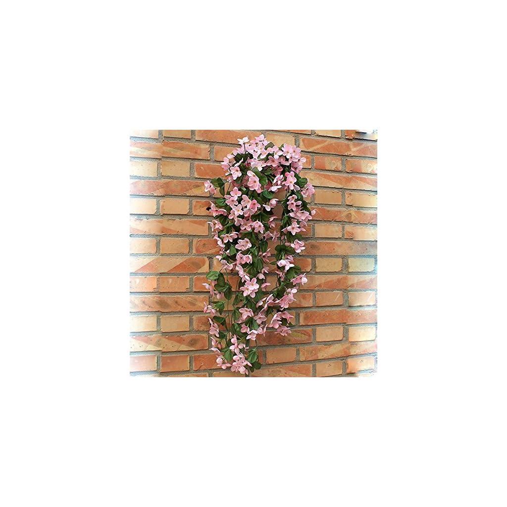1-Bunch-of-Artificial-Violet-Hanging-Garland-Vine-Flower-Trailing-Bracket-Plant-By-MEXUD