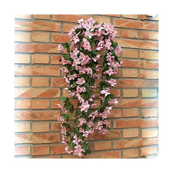 1-Bunch-of-Artificial-Violet-Hanging-Garland-Vine-Flower-Trailing-Bracket-Plant-By-MEXUD
