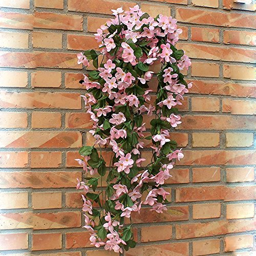 Wrisky 1 Bunch of Artificial Violet Hang - Pink Artificial Wreath Shopping Results