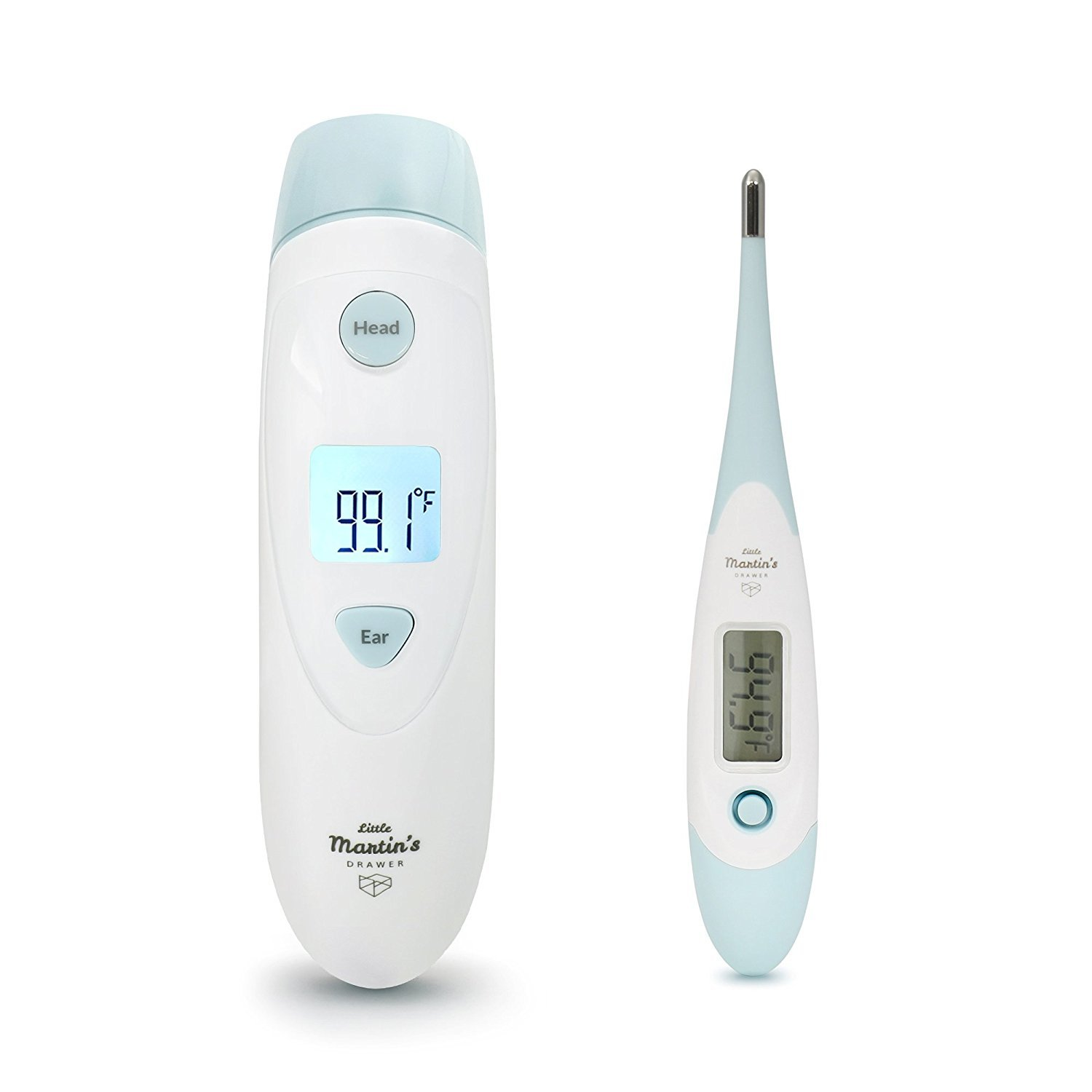 Little Martin's Medical Forehead and Ear Thermometer - Infrared Digital Thermometer Suitable for Baby, Infant, Toddler and Adults with FDA Approved