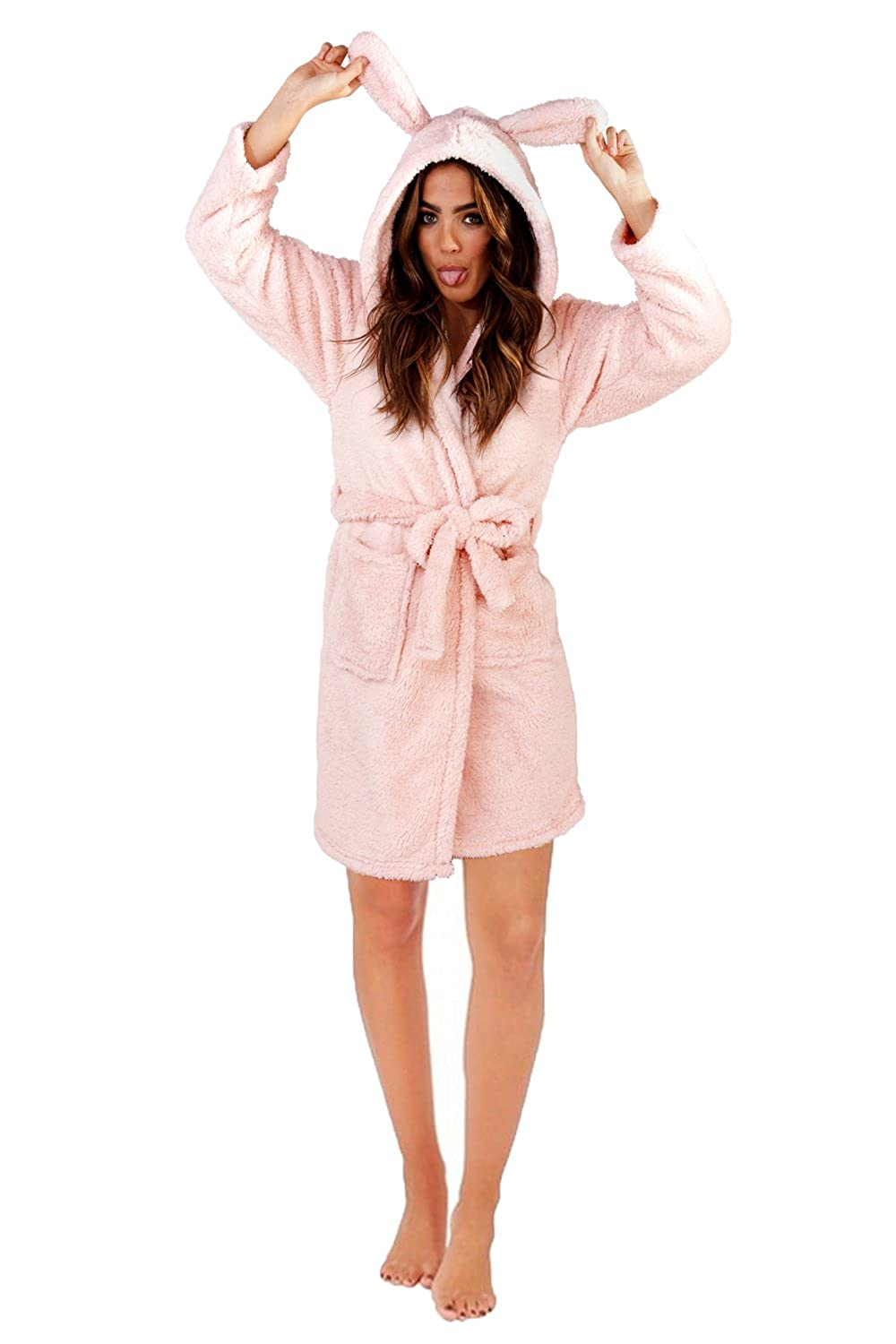 Loungeable Womens 3D Sparkle Rabbit Robe Dressing Gown