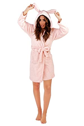 Loungeable Womens 3D Sparkle Rabbit Robe Dressing Gown  Amazon.co.uk   Clothing 865571b3c