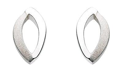 ec004ec00 Dew Sterling Silver Open Loop Stud Earrings: Amazon.co.uk: Jewellery