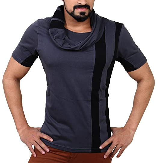 EYEBOGLER Regular Fit Men s Cotton T-Shirt (XXL-T6-CGBL, Charcoal ... 98351fd17f