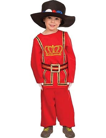 Busby Guard Costume British National Childs Kids Boys Fancy Dress Costume