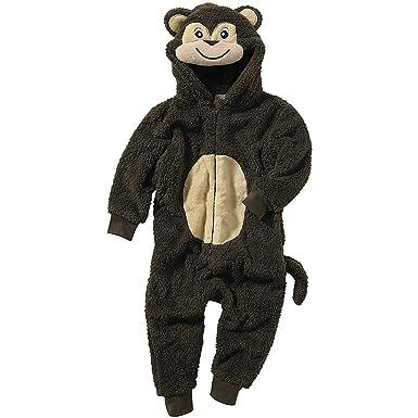 0b129eef8df4 Onesies Animal Crazy Boys Monkey Supersoft Shaggy Fleece Jumpsuit ...