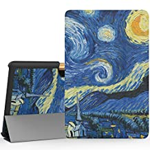 "MoKo Acer Tab 10 A3-A40 Case, Ultra Compact Protection Premium Slim Lightweight Smart Shell 3-Folding Stand Cover Case for 10.1"" Acer Iconia Tab 10 A3-A40 Tablet 2016 Release, Starry Night"