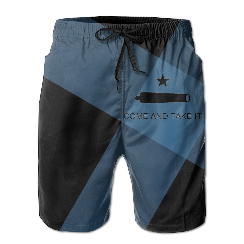 Helidoud Texas Come and Take It Mens Athletic Classic Swim Beach Shorts with Pockets