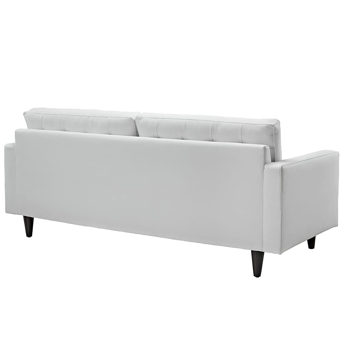Modway Empress Mid-Century Modern Upholstered Leather Sofa In White