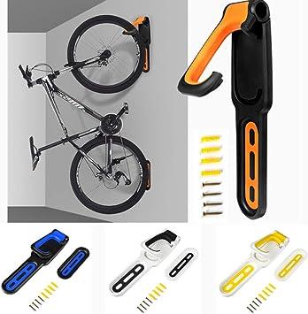 Soporte de pared para bicicleta plegable vertical, soporte para bicicleta compatible con todos los tipos de bicicletas., Amarillo: Amazon.es: Bricolaje y herramientas